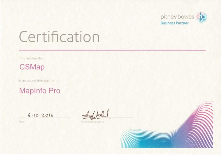 MapInfo Pro certificate