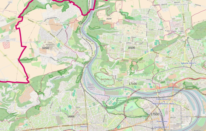 The map of Prague provides a more detailed view of Prague and its close surroundings.